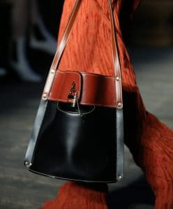 Chloe Black/Brown Bucket Bag - Resort 2020