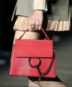 Chloe Red Faye Bag - Resort 2020