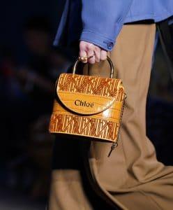 Chloe Tan Mini Top Handle Bag - Resort 2020