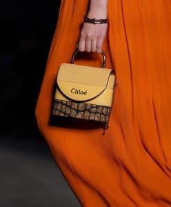 Chloe Yellow Mini Top Handle Bag - Resort 2020
