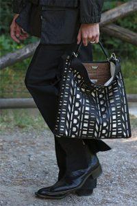 Fendi Black Perforated Peekaboo X-Lite Fit Bag - Spring 2020