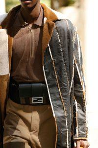 Fendi Black Striped Baguette Belt Bag - Spring 2020