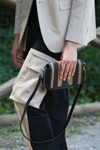 Fendi Black/Brown Striped Mini Messenger Bag - Spring 2020