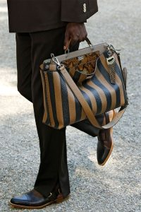 Fendi Black/Brown Striped Peekaboo Bag - Spring 2020