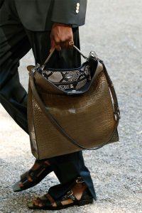 Fendi Brown Crocodile Peekaboo X-Lite Fit Bag -Spring 2020