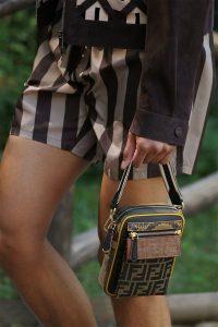 Fendi Brown FF Print Mini Messenger Bag - Spring 2020