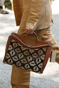 Fendi Brown Leather/Shearling Peekaboo Bag - Spring 2020