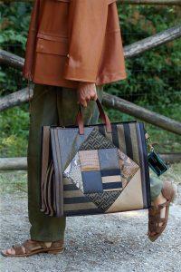 Fendi Brown Patchwork Tote Bag - Spring 2020