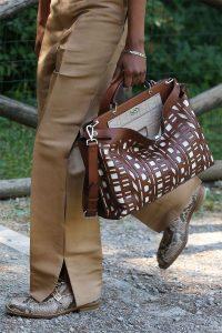 Fendi Brown Perforated Peekaboo Bag 2 - Spring 2020
