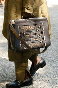 Fendi Brown Perforated Peekaboo Bag - Spring 2020