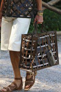 Fendi Brown Perforated Tote Bag - Spring 2020