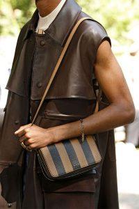Fendi Brown Striped Mini Shoulder Bag - Spring 2020
