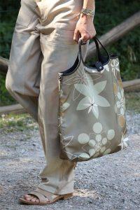 Fendi Gray Floral Tote Bag - Spring 2020