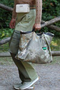 Fendi Gray Floral Tote and Beige Belt Bag - Spring 2020