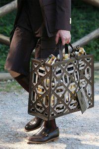 Fendi Gray Perforated Tote Bag - Spring 2020