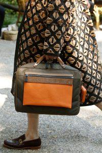 Fendi Green/Orange Top Handle Bag - Spring 2020