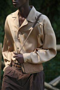 Fendi Light Brown FF Suede Mini Messenger Bag - Spring 2020