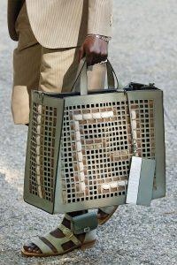 Fendi Light Green Perforated Tote Bag - Spring 2020