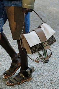 Fendi White/Brown Baguette Bag - Spring 2020