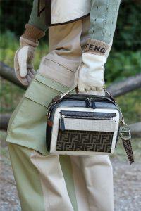 Fendi White/Gray FF Mini Top Handle Bag - Spring 2020