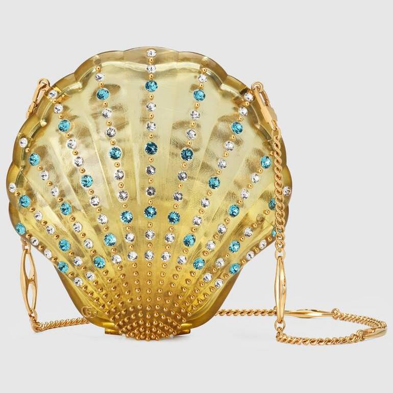 Gucci Broadway Shell Evening Bag