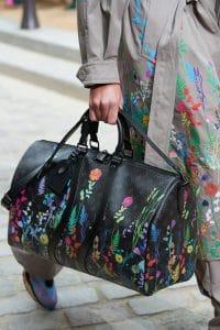 Louis Vuitton Black Monogram Canvas with Floral Print Keepall Bag - Spring 2020