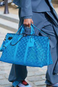 Louis Vuitton Blue Lace Monogram Duffle Bag - Spring 2020
