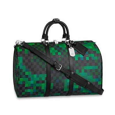 Louis Vuitton Damier Graphite Pixel Keepall Bandouliere 50 Bag