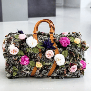 Louis Vuitton Floral Embellished Keepall Bag