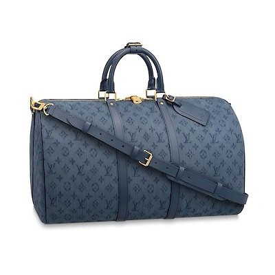 Borsa Louis Vuitton Monogram Denim Keepall Bandouliere 50