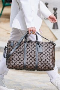 Louis Vuitton Monogram Tufted Canvas Keepall Bag - Spring 2020