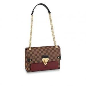 Louis Vuitton Damier Ebene Bordeaux Vavin PM Bag