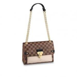 Louis Vuitton Damier Ebene Creme Vavin PM Bag