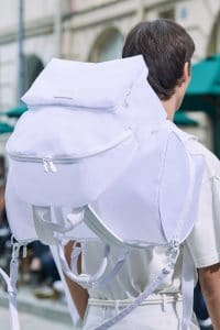 Louis Vuitton White Nylon Backpack and Keepall Bag - Spring 2020