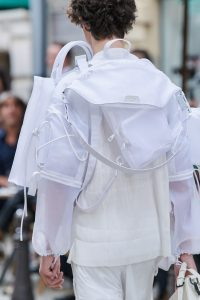 Louis Vuitton White Nylon Belt and Backpack Bags - Spring 2020