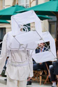 Louis Vuitton White Nylon Keepall Bag with Kite - Spring 2020