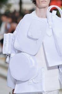 Louis Vuitton White Nylon Messenger and Tote Bags - Spring 2020