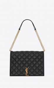 Saint Laurent Black Becky Large Chain Bag