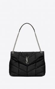 Saint Laurent Black LouLou Puffer Medium Bag