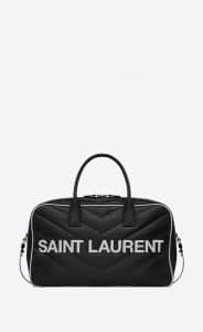 Saint Laurent Black Quilted Miles Bowling Bag