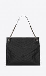 Saint Laurent Black Vintage Leather Niki Large Shopping Bag