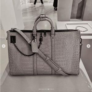 Louis Vuitton Gray Crocodile Duffle Bag