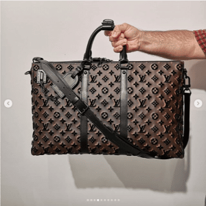 Louis Vuitton Monogram Tufted Duffle Bag