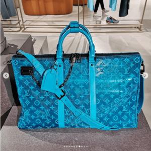 Louis Vuitton Turquoise Lace Monogram Duffle Bag