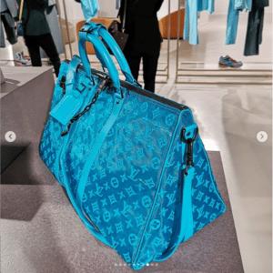 Louis Vuitton Turquoise Lace Monogram Duffle Bag 2