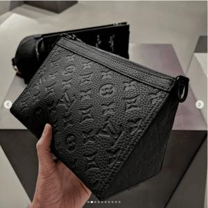 Louis Vuitton Black Monogram Pouch Bag