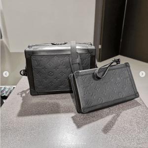 Louis Vuitton Gray Monogram Soft Trunk Bags