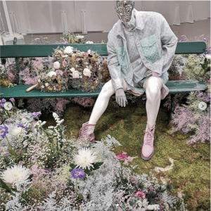 Louis Vuitton Floral Embellished Trunk Bag