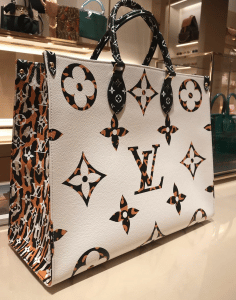 Louis Vuitton Jungle OntheGo White Tote Bag