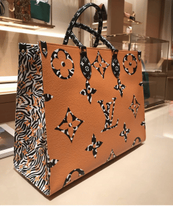 Louis Vuitton Jungle OntheGo Camel Tote Bag